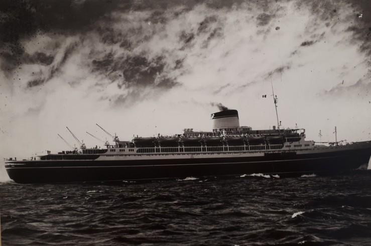 fondo agenzia viaggi lorandi - L'Andrea Doria in Navigazione _ 1952-1956